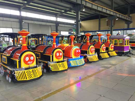 Funfair trackless trains