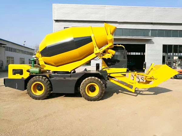 3.5 cub self loading mobile concrete mixer truck